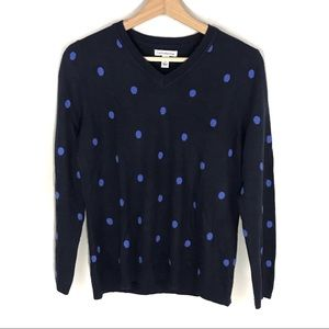 Croft & Barrow V-neck polka dot pullover sweater